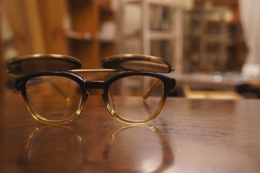 newold with clip on sunglasses ポンメガネ浦和 yellows plus