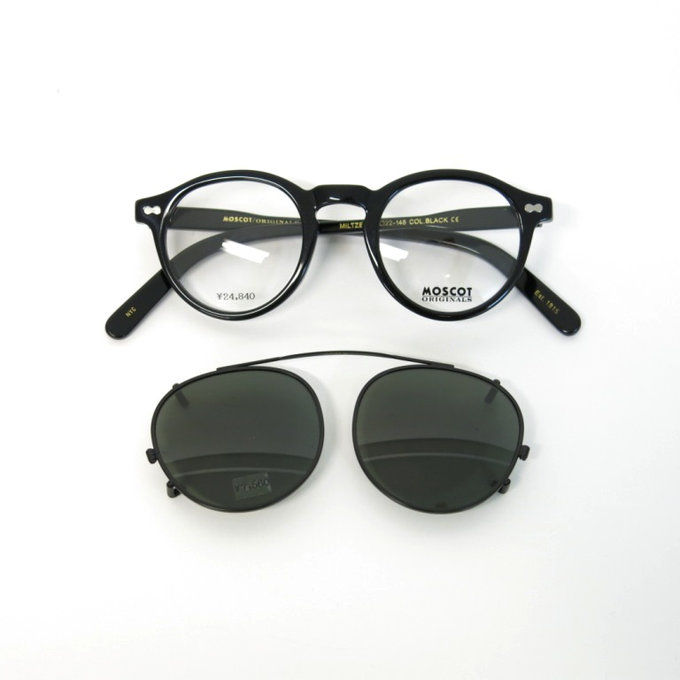 moscot miltzen with clip on ポンメガネ大宮 thom browne moscot