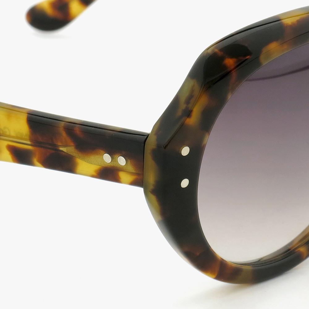 オードリー ヘプバーンが映画「シャレード」で使用したサングラス、メーカー在庫最後の1本が入荷しました[ HEP/ヘップ Leopard ]03